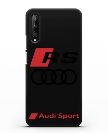 Чехол с логотипом Audi RS Sport силикон черный для Huawei Y9s