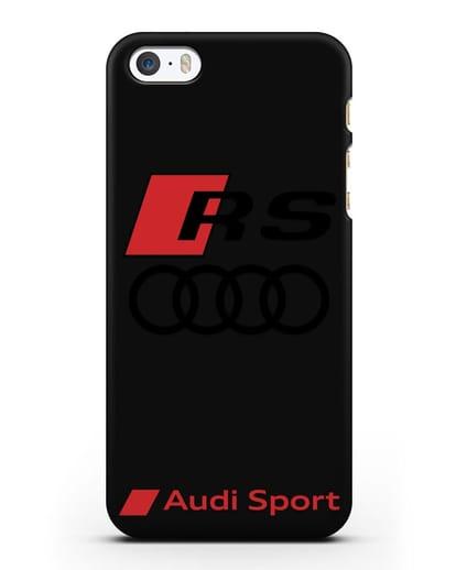 Чехол с логотипом Audi RS Sport силикон черный для iPhone 5/5s/SE