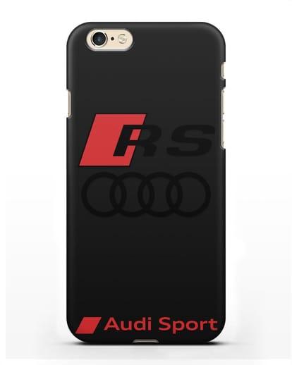 Чехол с логотипом Audi RS Sport силикон черный для iPhone 6s