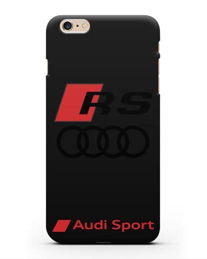 Чехол с логотипом Audi RS Sport силикон черный для iPhone 6s Plus