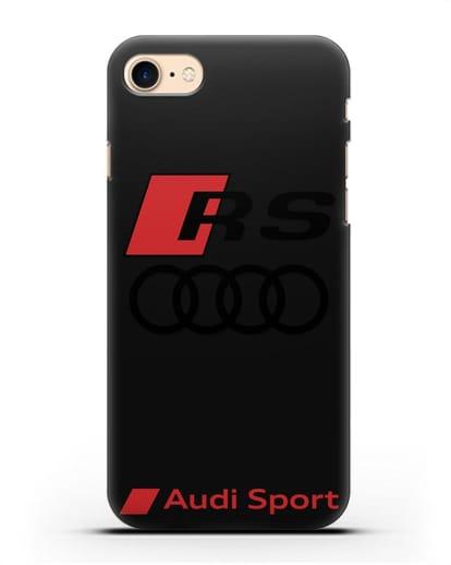 Чехол с логотипом Audi RS Sport силикон черный для iPhone 7