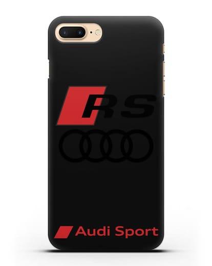 Чехол с логотипом Audi RS Sport силикон черный для iPhone 7 Plus