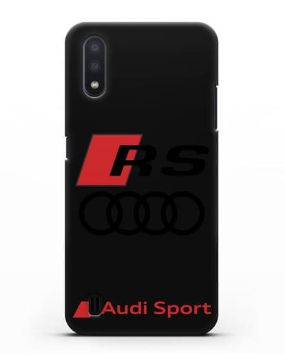 Чехол с логотипом Audi RS Sport силикон черный для Samsung Galaxy A01 [SM-A015F]