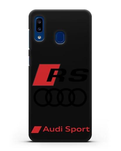 Чехол с логотипом Audi RS Sport силикон черный для Samsung Galaxy A20 [SM-A205FN]
