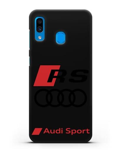 Чехол с логотипом Audi RS Sport силикон черный для Samsung Galaxy A30 [SM-A305FN]