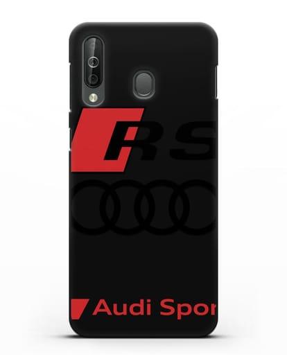 Чехол с логотипом Audi RS Sport силикон черный для Samsung Galaxy A40s [SM-A507FN]