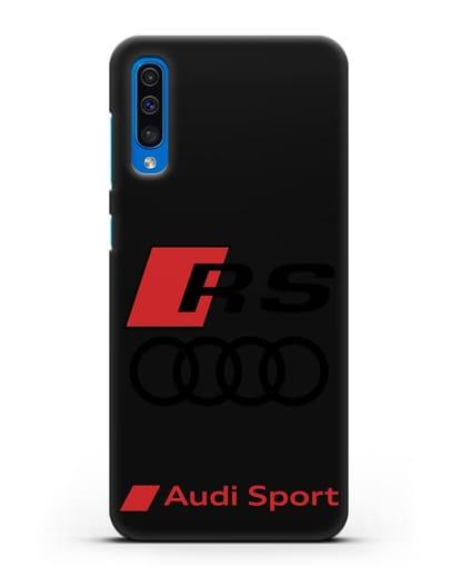 Чехол с логотипом Audi RS Sport силикон черный для Samsung Galaxy A50 [SM-A505F]