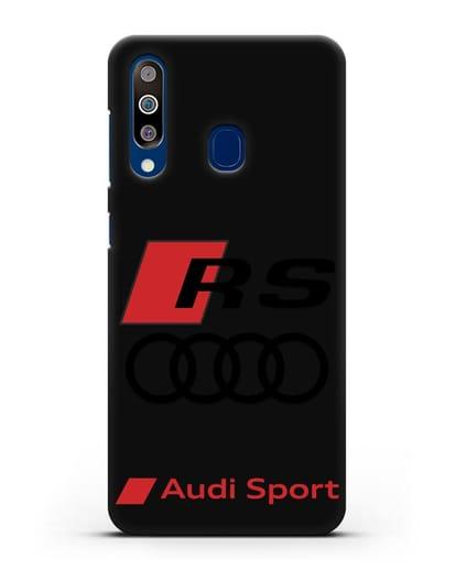 Чехол с логотипом Audi RS Sport силикон черный для Samsung Galaxy A60 [SM-A606F]