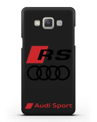 Чехол с логотипом Audi RS Sport силикон черный для Samsung Galaxy A7 2015 [SM-A700F]