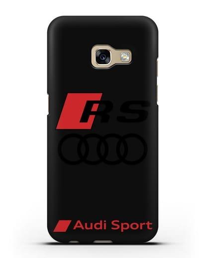 Чехол с логотипом Audi RS Sport силикон черный для Samsung Galaxy A7 2017 [SM-A720F]
