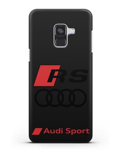 Чехол с логотипом Audi RS Sport силикон черный для Samsung Galaxy A8 [SM-A530F]