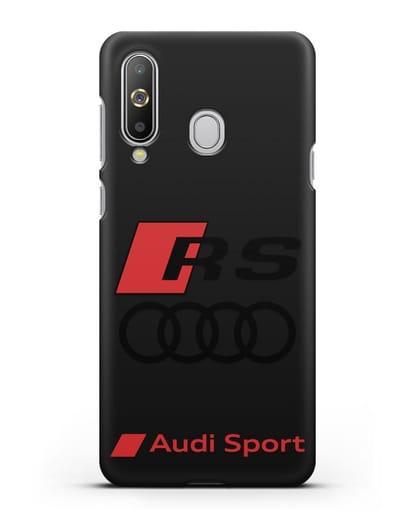 Чехол с логотипом Audi RS Sport силикон черный для Samsung Galaxy A8s [SM-G8870]