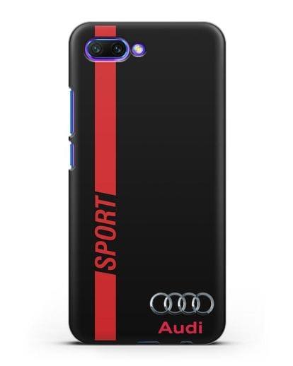 Чехол с надписью Audi Sport силикон черный для Honor 10