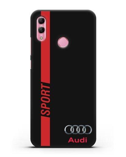 Чехол с надписью Audi Sport силикон черный для Honor 10 Lite