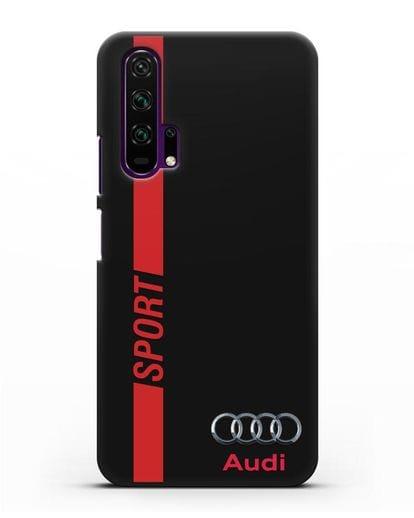Чехол с надписью Audi Sport силикон черный для Honor 20 Pro