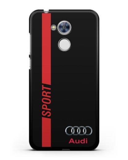 Чехол с надписью Audi Sport силикон черный для Honor 6A