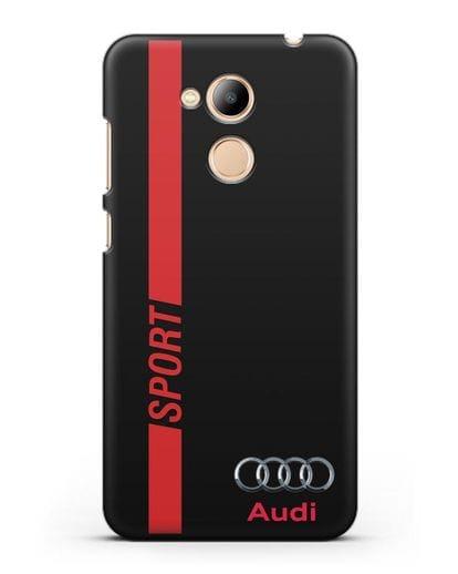 Чехол с надписью Audi Sport силикон черный для Honor 6C Pro