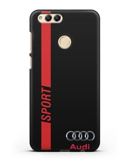 Чехол с надписью Audi Sport силикон черный для Honor 7X