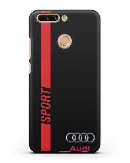 Чехол с надписью Audi Sport силикон черный для Honor 8 Pro