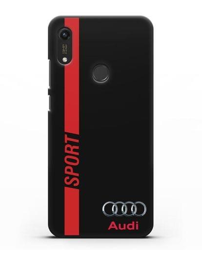 Чехол с надписью Audi Sport силикон черный для Honor 8A Prime