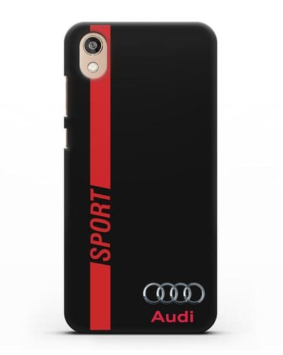 Чехол с надписью Audi Sport силикон черный для Honor 8S