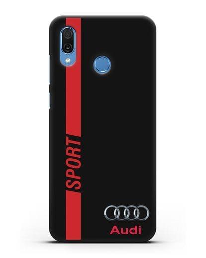 Чехол с надписью Audi Sport силикон черный для Honor Play