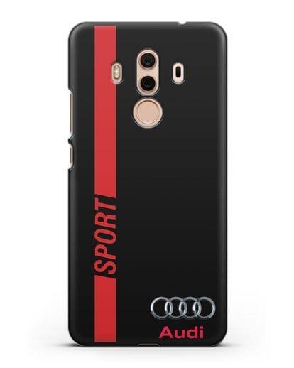 Чехол с надписью Audi Sport силикон черный для Huawei Mate 10 Pro