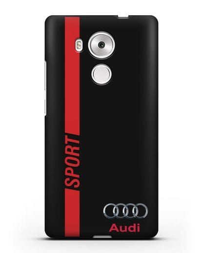 Чехол с надписью Audi Sport силикон черный для Huawei Mate 8
