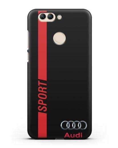 Чехол с надписью Audi Sport силикон черный для Huawei Nova 2 Plus