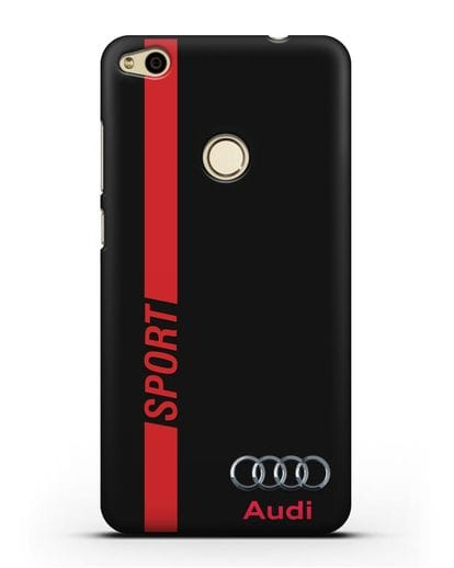 Чехол с надписью Audi Sport силикон черный для Huawei P8 Lite 2017