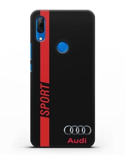 Чехол с надписью Audi Sport силикон черный для Huawei P Smart Z