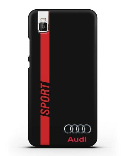 Чехол с надписью Audi Sport силикон черный для Huawei Shot X