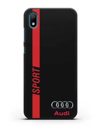 Чехол с надписью Audi Sport силикон черный для Huawei Y5 2019