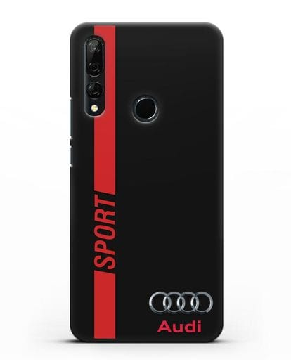 Чехол с надписью Audi Sport силикон черный для Huawei Y9 Prime 2019