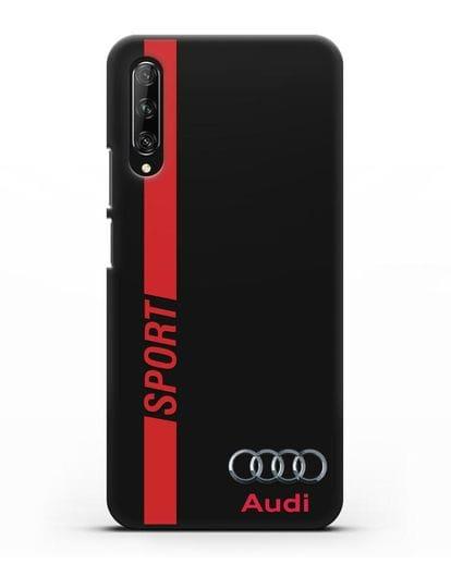 Чехол с надписью Audi Sport силикон черный для Huawei Y9s