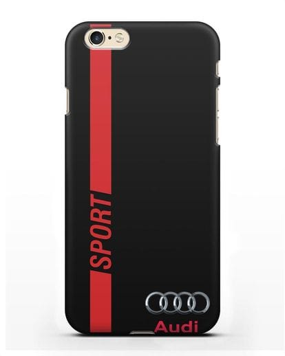 Чехол с надписью Audi Sport силикон черный для iPhone 6s