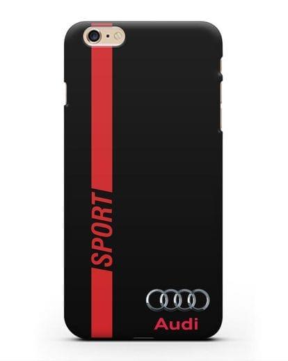 Чехол с надписью Audi Sport силикон черный для iPhone 6s Plus