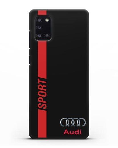 Чехол с надписью Audi Sport силикон черный для Samsung Galaxy A31 [SM-A315F]