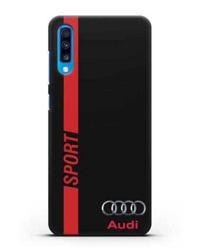Чехол с надписью Audi Sport силикон черный для Samsung Galaxy A70 [SM-A705F]