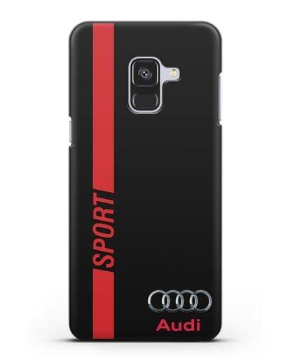 Чехол с надписью Audi Sport силикон черный для Samsung Galaxy A8 [SM-A530F]