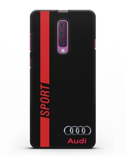 Чехол с надписью Audi Sport силикон черный для Samsung Galaxy A90 [SM-A908N]