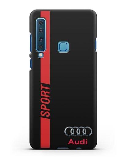 Чехол с надписью Audi Sport силикон черный для Samsung Galaxy A9 (2018) [SM-A920]