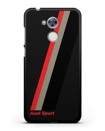 Чехол с логотипом Ауди Спорт силикон черный для Honor 6A