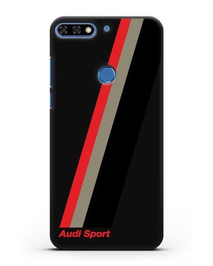 Чехол с логотипом Ауди Спорт силикон черный для Honor 7C Pro