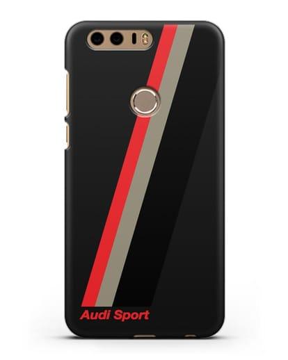 Чехол с логотипом Ауди Спорт силикон черный для Honor 8