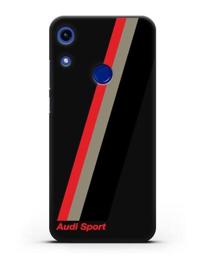 Чехол с логотипом Ауди Спорт силикон черный для Honor 8A