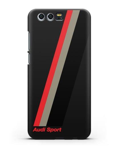 Чехол с логотипом Ауди Спорт силикон черный для Honor 9