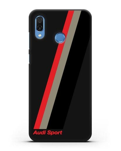 Чехол с логотипом Ауди Спорт силикон черный для Honor Play