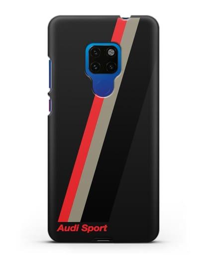 Чехол с логотипом Ауди Спорт силикон черный для Huawei Mate 20
