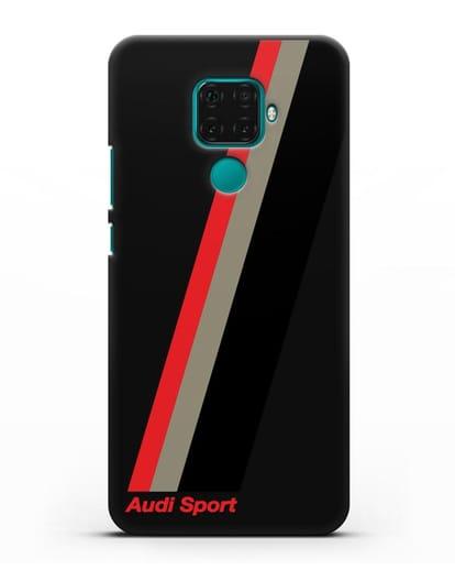 Чехол с логотипом Ауди Спорт силикон черный для Huawei Mate 30 Lite